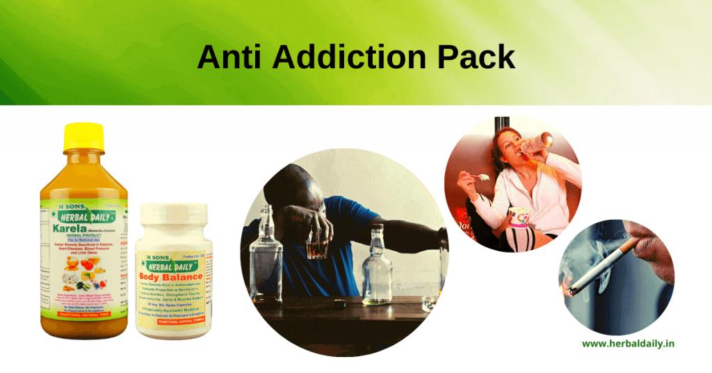 natural-remedy-for-addiction-cravings-smoking, Anti-Addiction-Pack, herbal daily karela, body balance