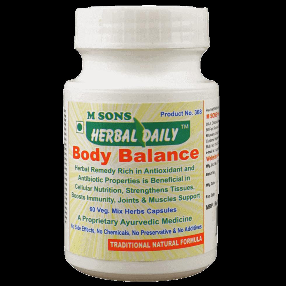 herbal daily body balance veg. capsule